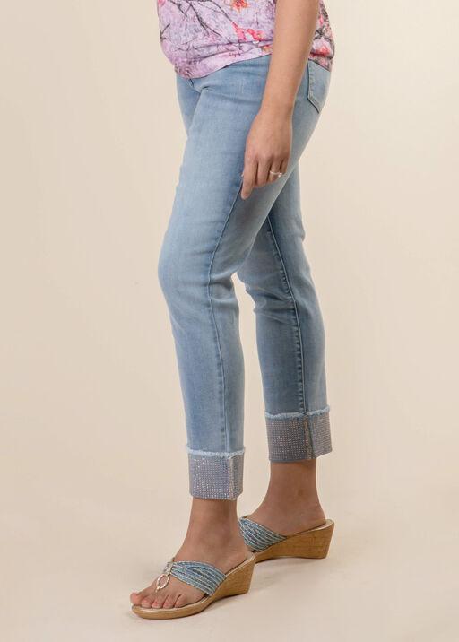 Rhinestone Cuff Jeans, , original