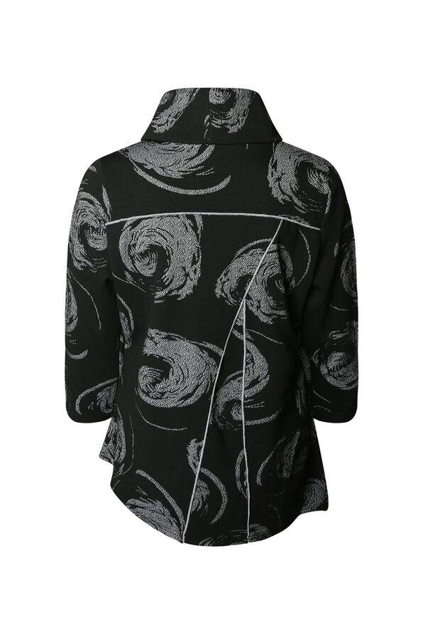 Swirl Cowl Neck Tunic, Black, original image number 1