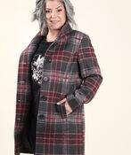 Brushed Faux Wool Coat, Red, original image number 2