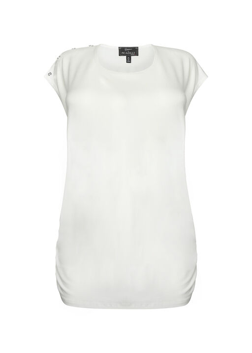 Bristol Button Cap Sleeve Top, , original