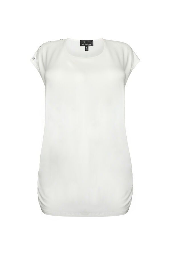 Bristol Button Cap Sleeve Top, , original image number 0