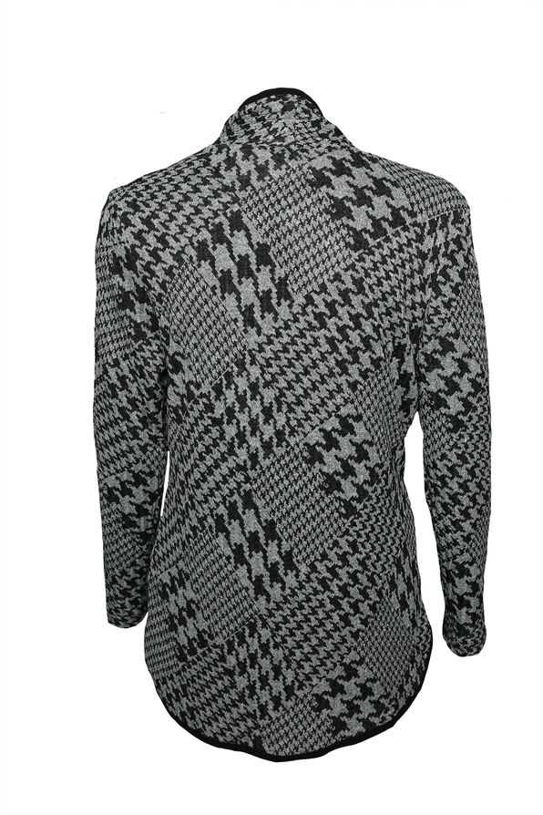 Houndstooth Twinset, Grey, original image number 1
