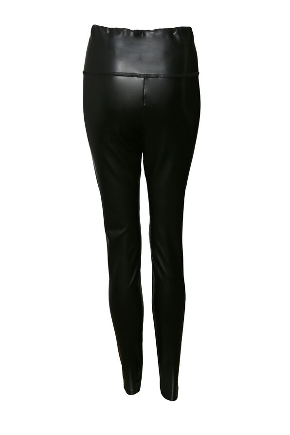 Faux Leather Legging , Black, original image number 1