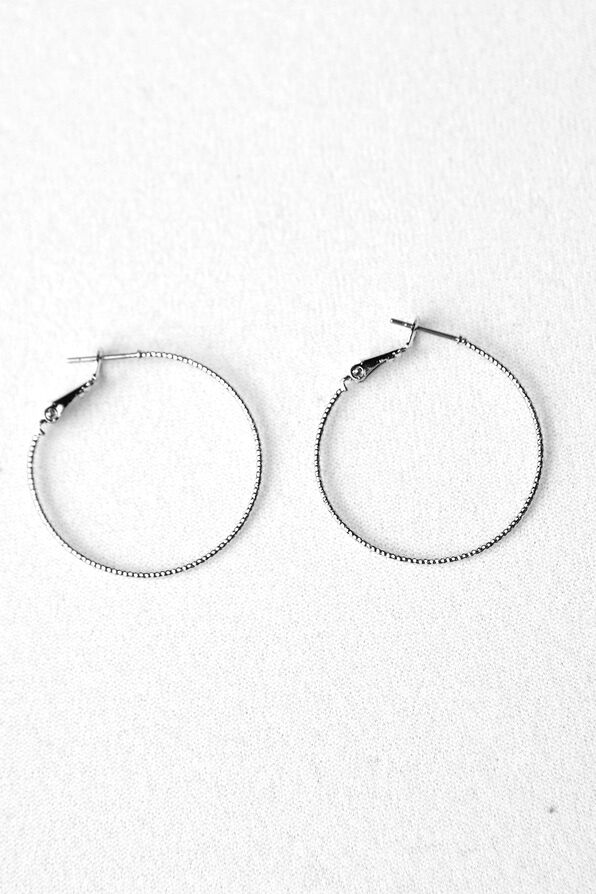 Diamond Cut Hoops, , original image number 0