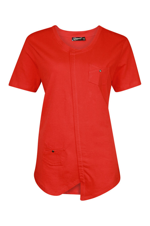Asymmetrical Cross-Over T-Shirt, , original image number 2