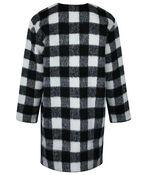 Buffalo Plaid Duster Coat, Black, original image number 1