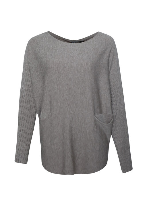 Dolman Sleeve Sweater, Taupe, original
