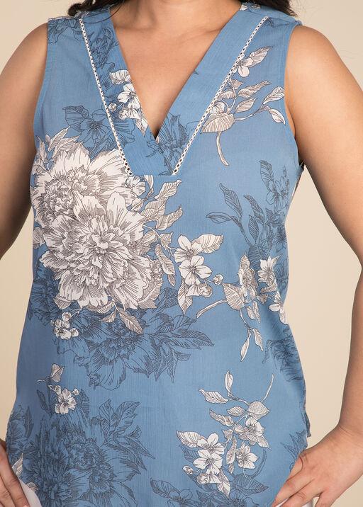 Victorian Art Sleeveless Blouse, Blue, original