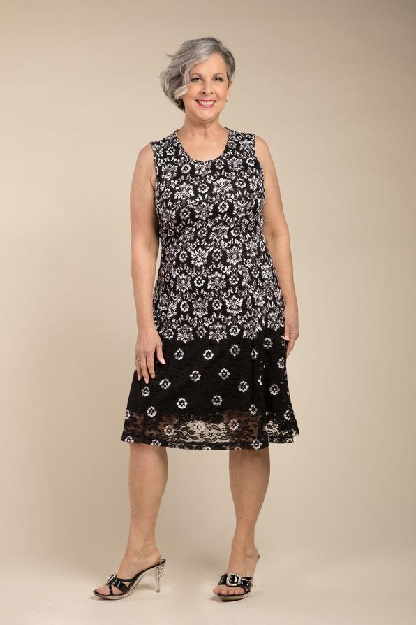 Angelina Lace Dress, Black, original image number 0