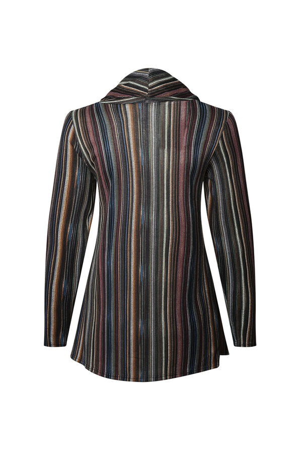 Haven Striped Cowl Neck Top, Multi, original image number 1