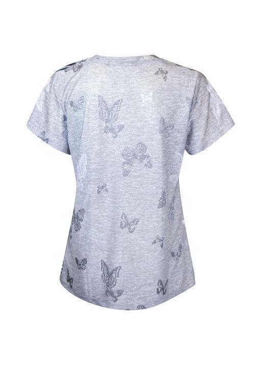 Bee Star Rhinestone T-Shirt, Grey, original