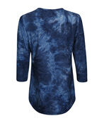 Tie-dye Long Top  , Denim, original image number 1