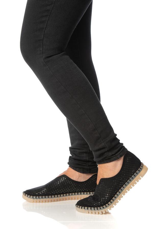 Diamond Tulip Shoes, Black, original image number 0