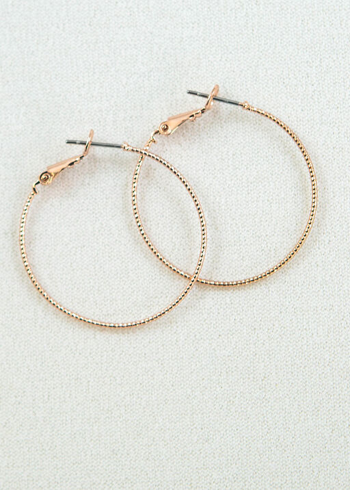 Diamond Cut Hoops, Pink, original