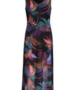 Tribal Sleeveless Mesh Maxi Dress, Pink, original image number 1