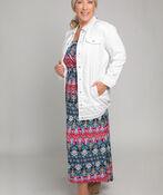 Patterned Maxi Dress, Fuschia, original image number 0