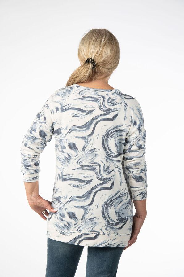Cloud Paintbrush Tunic Sweatshirt, Blue, original image number 2