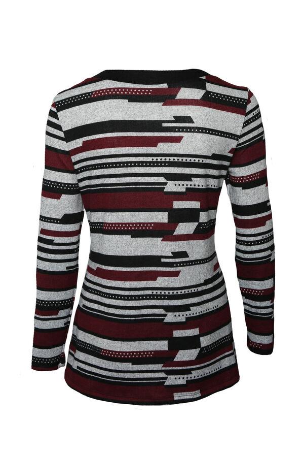 Adira Sweater with Grommet Neckline, Black, original image number 1