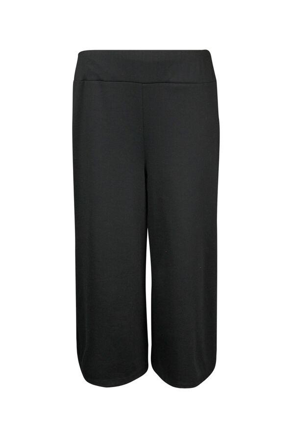 Pull On Gaucho Pant, Black, original image number 0