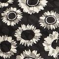Sunflower Blooms Top, Black, swatch