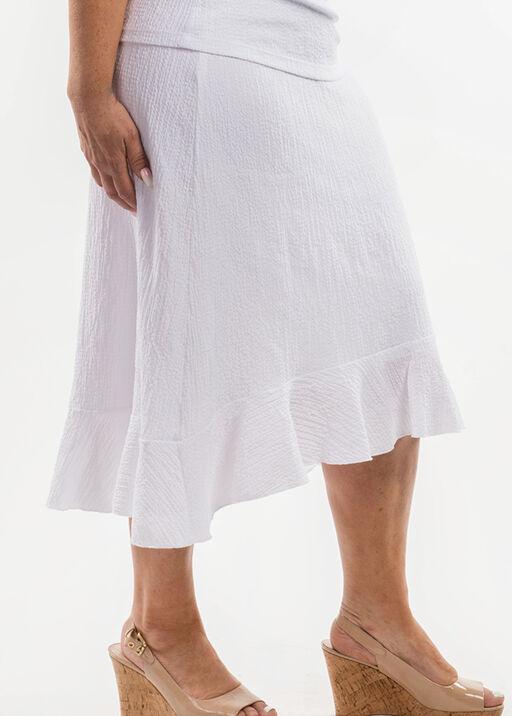 Ruffle Hi-Lo Skirt, White, original
