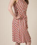 Diana Geo Print Dress, Coral, original image number 2