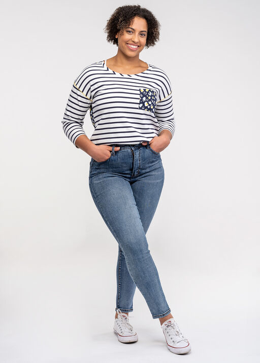 Brooke 5 Pocket High Rise Ankle Jean, Blue, original