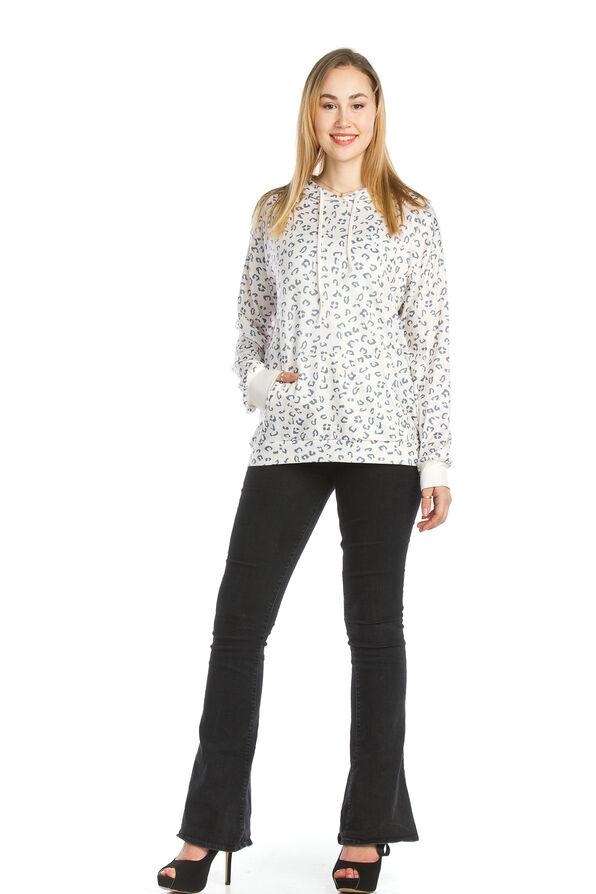 Cheetah Athleisure Top, Cream, original image number 0