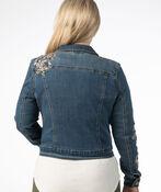 Floral Embroidered Denim Jacket, Denim, original image number 2