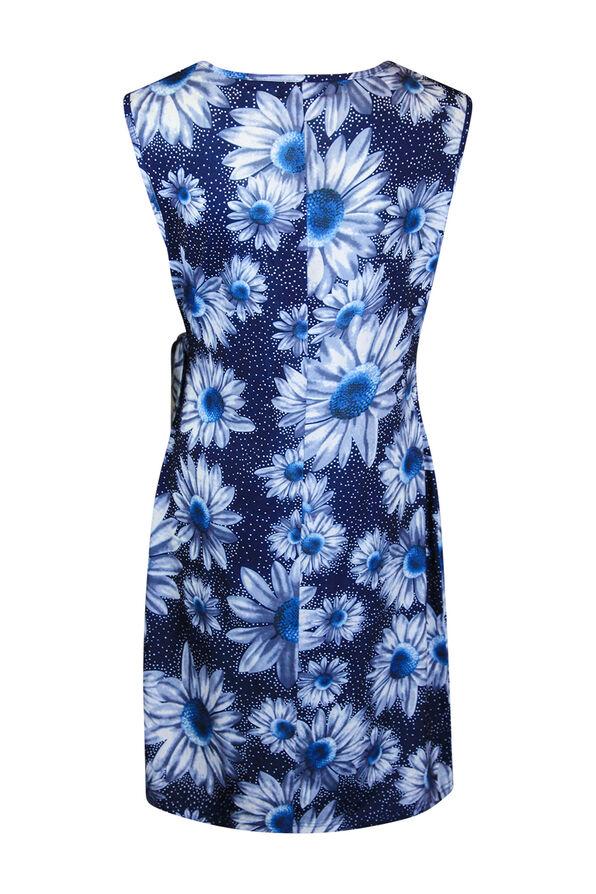 Sunflower Wrap Dress, Blue, original image number 1