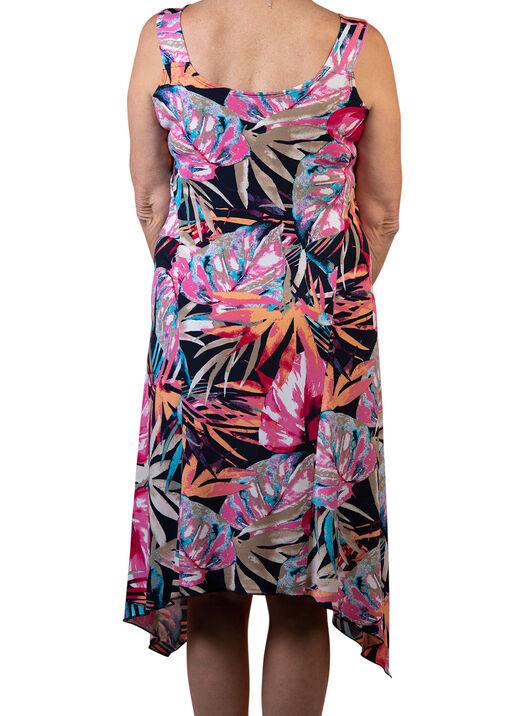 Sleeveless Swing Dress with Hankie Hem, Multi, original
