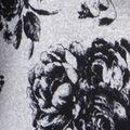 Knit Top Long Sleeve Print, Black, swatch