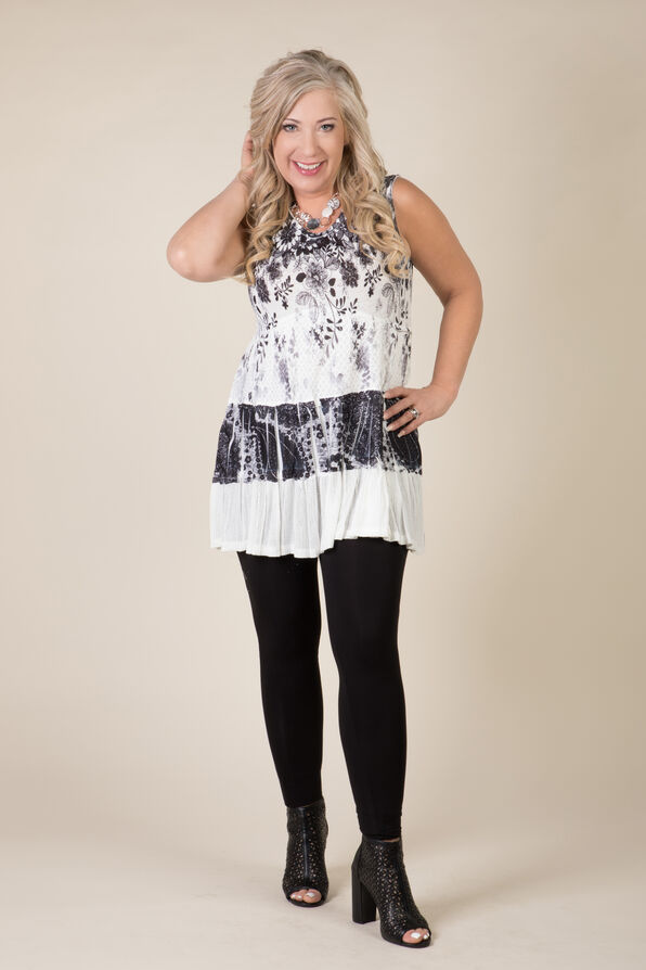 Joy Sleeveless Tunic, Black, original image number 2