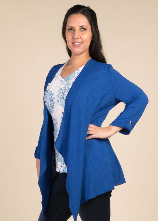 Open Front Cardigan, Royal, original