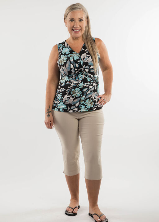 Knotted Floral Tank, , original