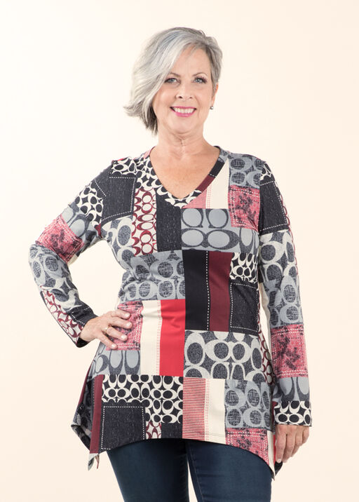 Soft Brushed Knit Tunic, , original