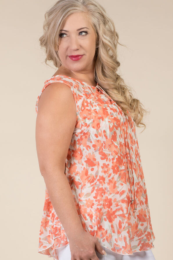 Lauren Sleeveless Blouse, Coral, original image number 1