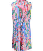 Cowl Neck Sleeveless Dress with Pockets, Pink, original image number 1