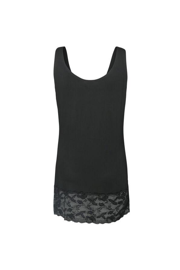 Lace Hem Cami, Black, original image number 1