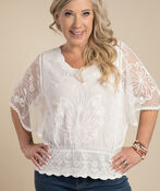 Aimee Blouse, Ivory, original image number 0