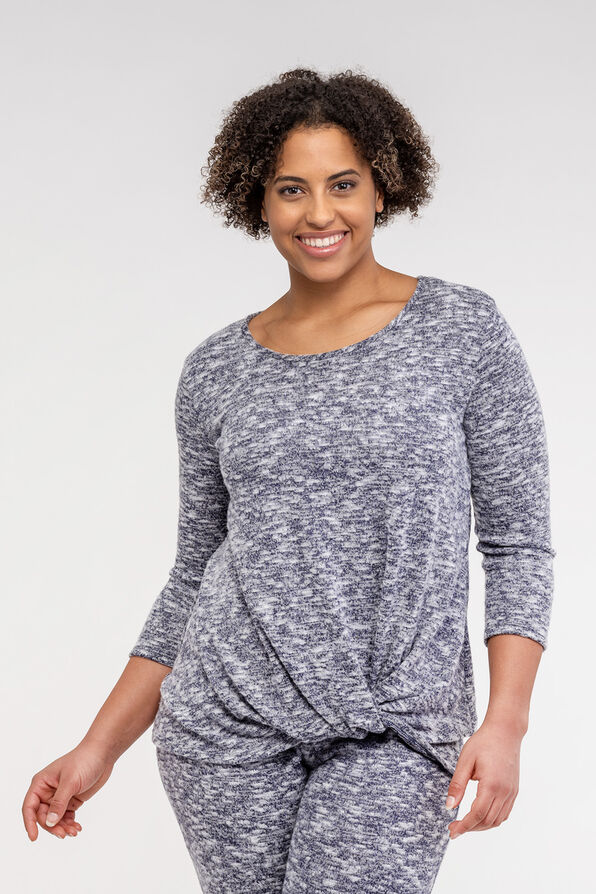 Cozy Knotted 3/4 Sleeve Top, , original image number 0
