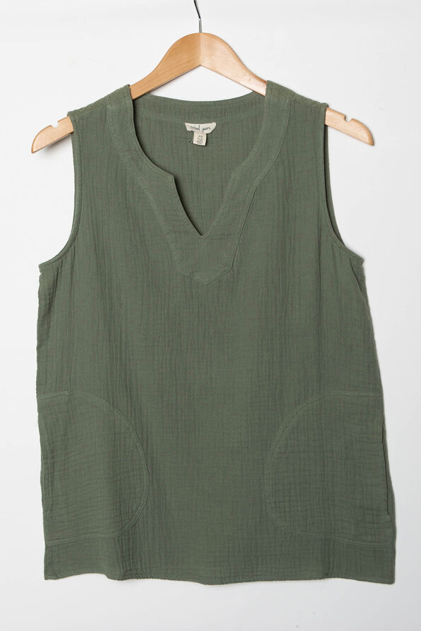 Perfectly Pocketed Sleeveless Top, , original image number 1