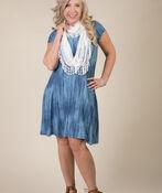 Adeline Shift Dress, Denim, original image number 2