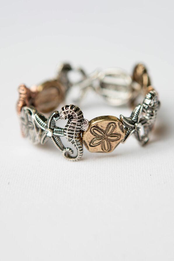 Sea Life Stretch Bracelet, Multi, original image number 0