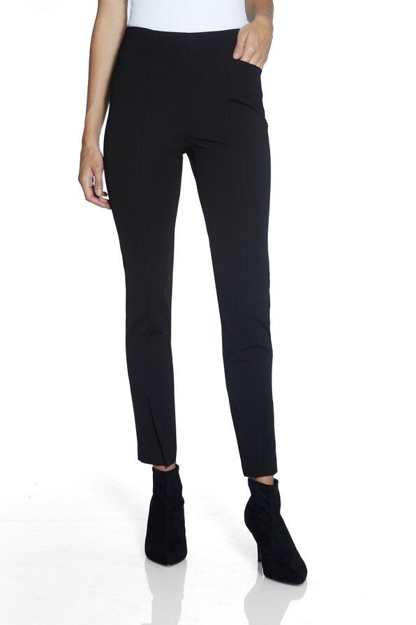Up Compression Pants with Ankle Slit, Black, original image number 1