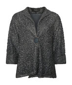 Boucle-Like Cardigan with 3/4 Sleeves, , original image number 0