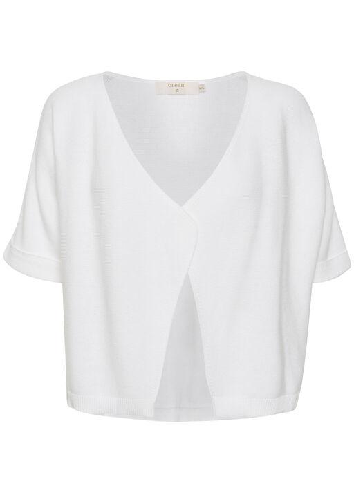 Cream Sillar Knit Bolero Cardigan, White, original