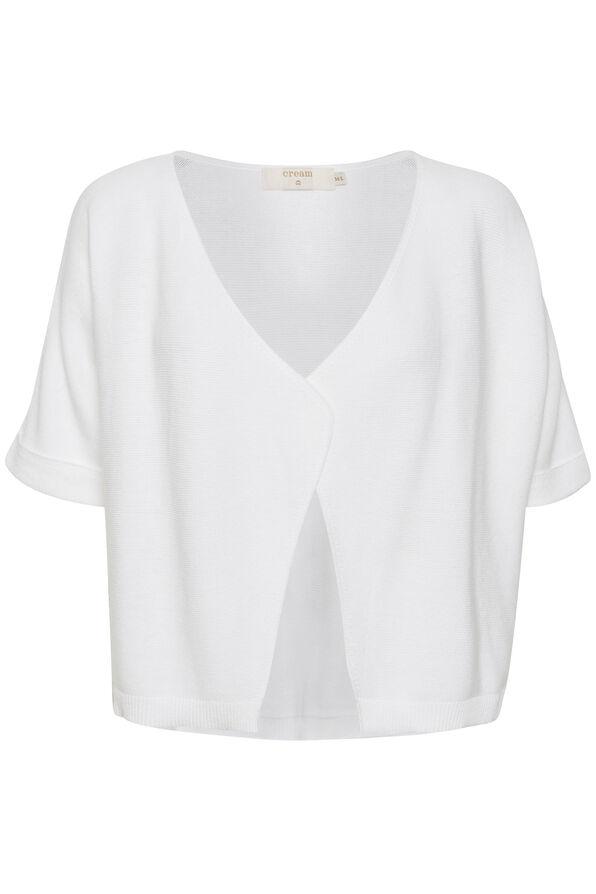Cream Sillar Knit Bolero Cardigan, White, original image number 0
