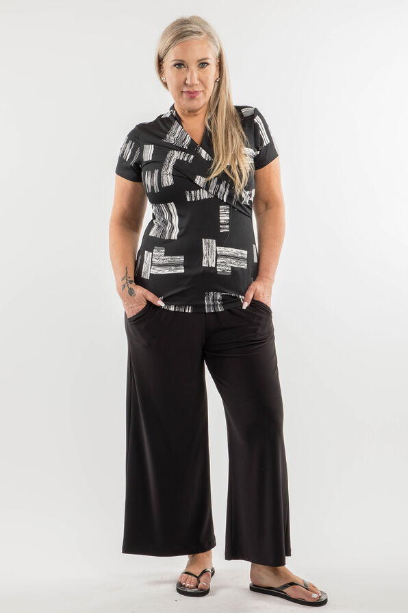 Draw String Trouser, Black, original image number 1