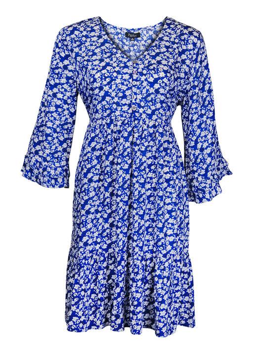 Boho 3/4 Ruffle Sleeve Dress, , original